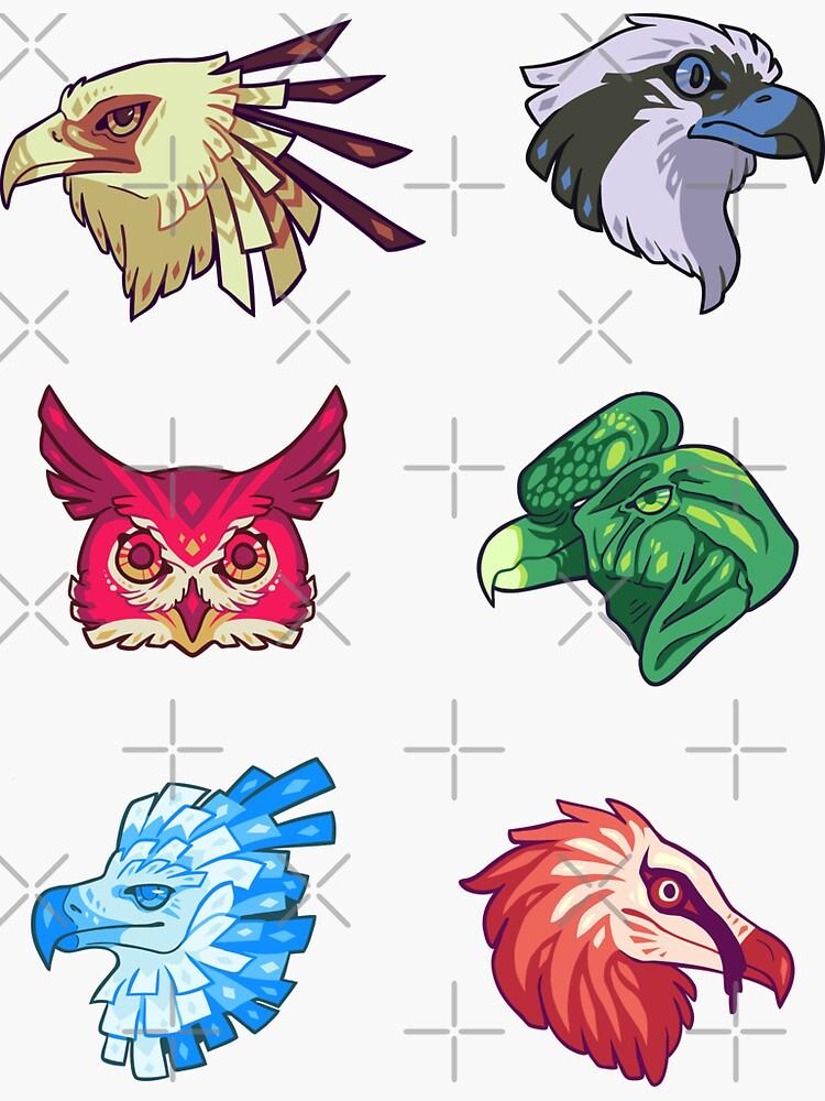 Raptor bird stickers by psychonautic