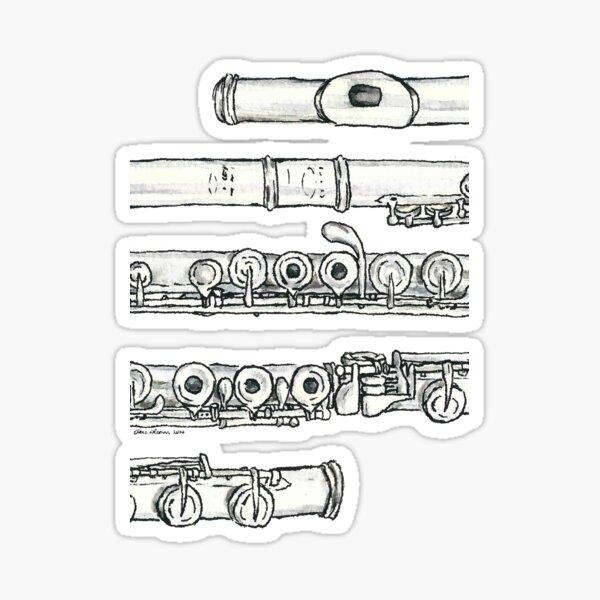 The Flute Sticker