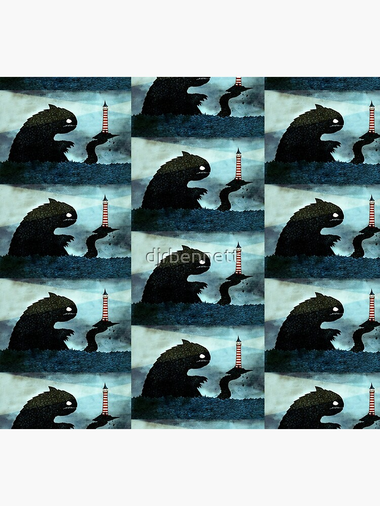 Sea monster & Lighthouse by djrbennett