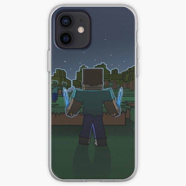 Minecraft Night Fighter iPhone Soft Case