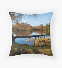 Moss Eccles Tarn, Cumbria Throw Pillow