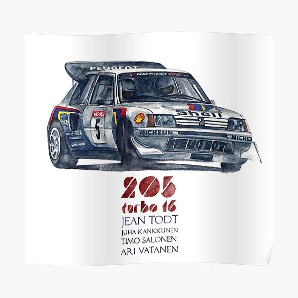 Groupe de rallye B-Peugeot 205 Turbo 16 Poster