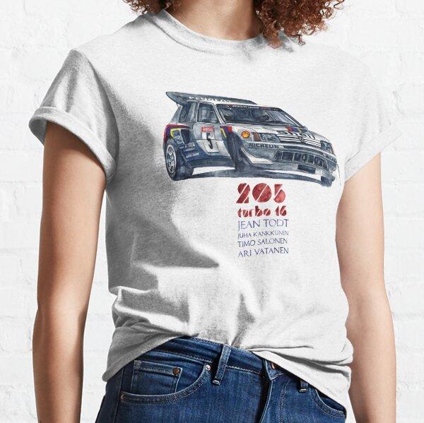 Groupe de rallye B-Peugeot 205 Turbo 16 T-shirt classique