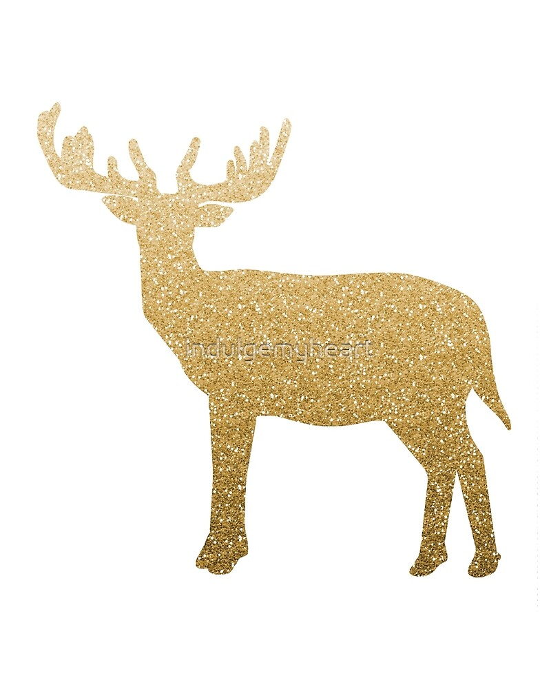Standing Gold Deer by indulgemyheart