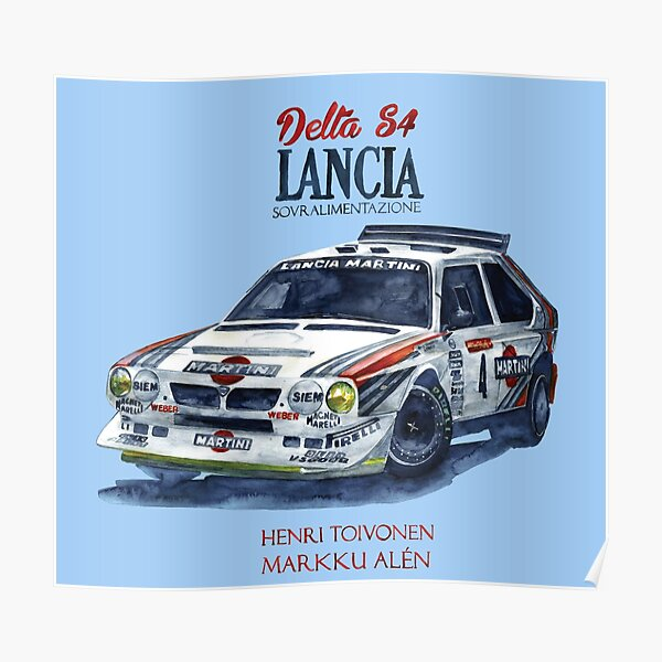 Rally Group B-Lancia Delta S4 Póster