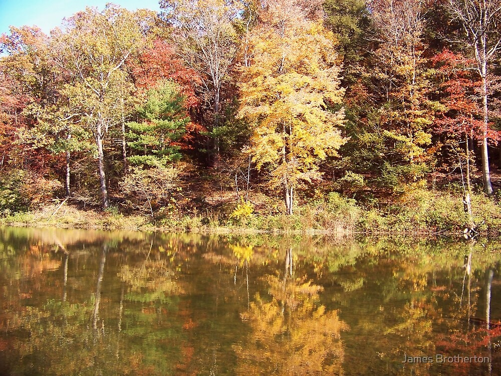 Autumn Lake Reflections by James Brotherton