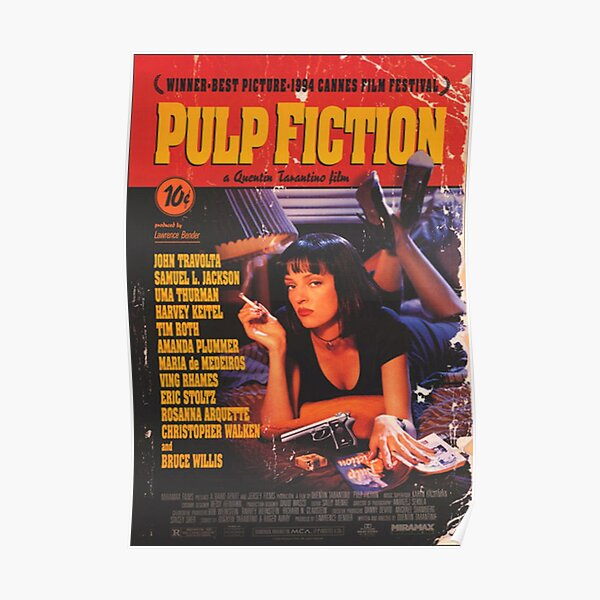 pulp fiction, kubrick, movie poster, iconic, Poster
