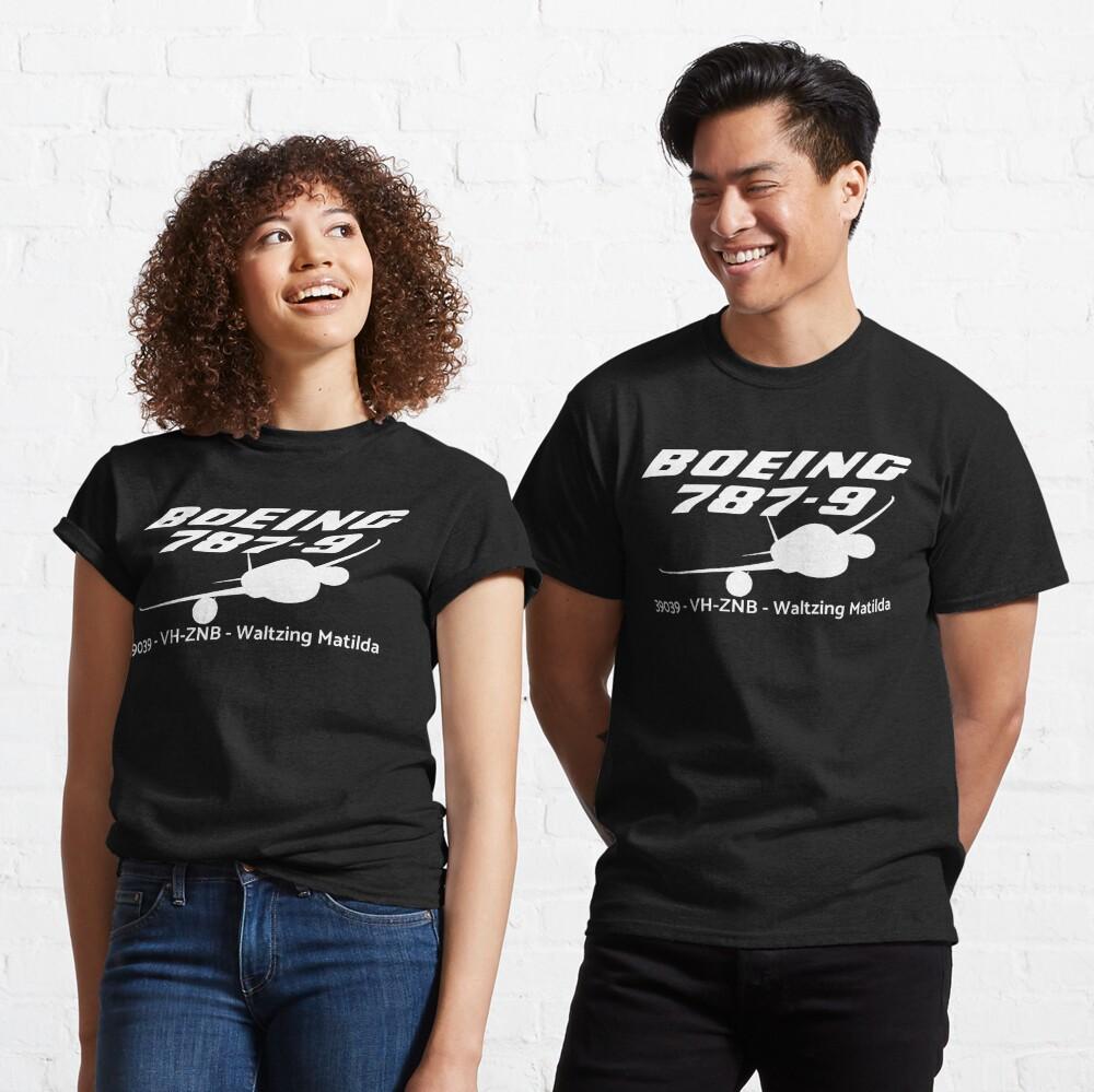 Boeing 787-9 39039 VH-ZNB (White Print) Classic T-Shirt