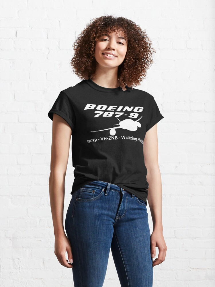 Alternate view of Boeing 787-9 39039 VH-ZNB (White Print) Classic T-Shirt