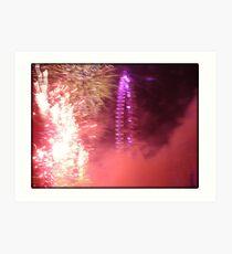 Amazing London - New year's Day Fireworks  #2 - 1st - 2011 - UK Art Print