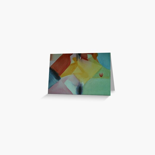 Colors Colliding Greeting Card