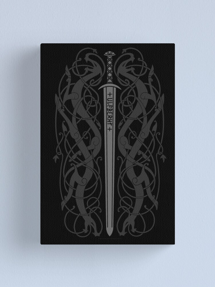 Alternate view of Ulfberht Sword and Dragons Canvas Print