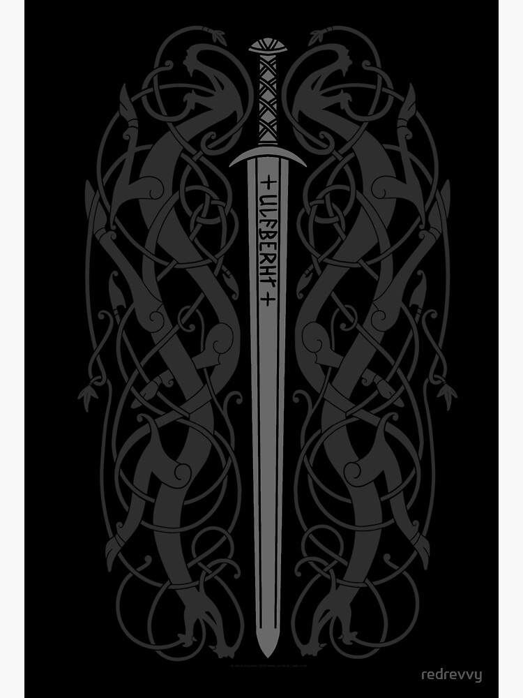 Ulfberht Sword and Dragons by redrevvy