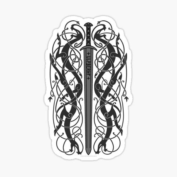 Ulfberht Sword and Dragons Sticker