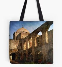 Morning Sun at the Mission Tote Bag