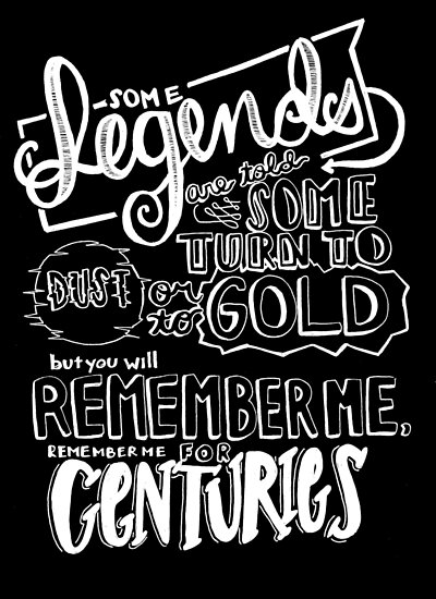 Centuries By Fall Out Boy Lyric Drawing Posters By Yazmin Garcia