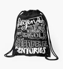 """Centuries"" By Fall Out Boy Lyric Drawing Drawstring Bag"