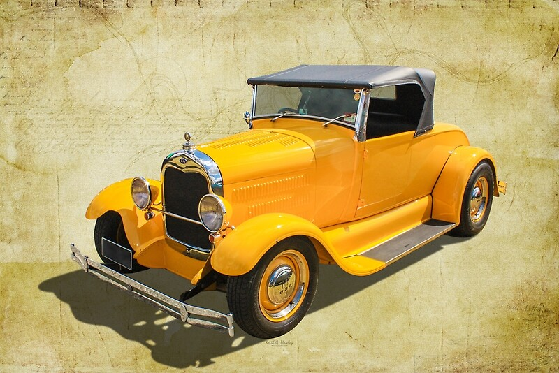 'Yellow Roadster' by Hawley Designs
