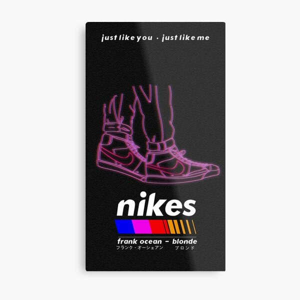 Frank Ocean/Nikes Metal Print