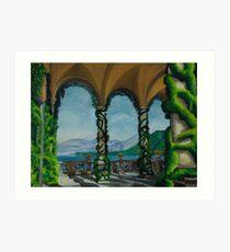 Under The Arches At Villa Balvianella Art Print