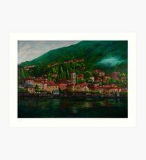Village View On Lake Como Art Print