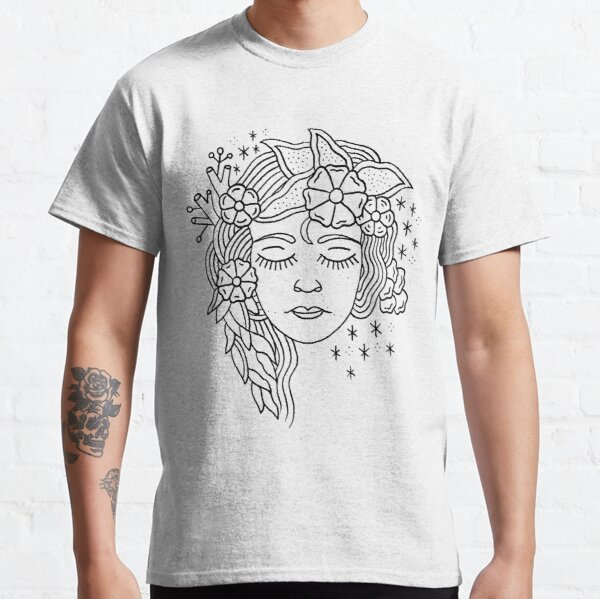 Flowers In Her Hair Classic T-Shirt