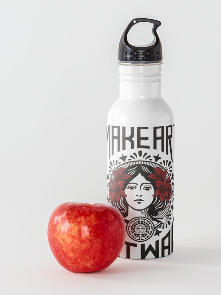 Alternate view of Make art not war, make art, street art, peace Water Bottle