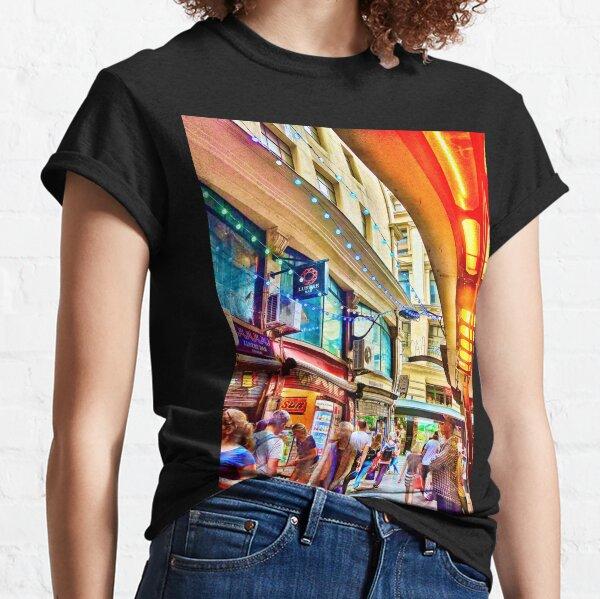 Street Photograph - Centre Place in Melbourne Australia 2017 Classic T-Shirt