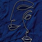 Epic Blue Indigo Moroccan Artwork, (Between us) by Arteresting