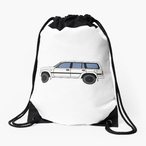 Toyota land cruiser 80 series Improved white Drawstring Bag