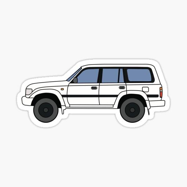 Toyota Land Cruiser 80 Series Blanc amélioré Sticker