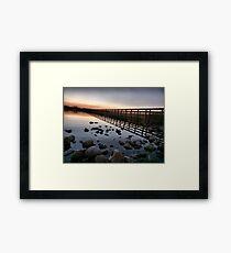 Fleetwood Nature Reserve . Framed Print