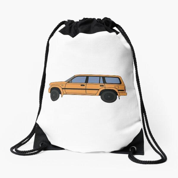 Toyota land cruiser 80 series Improved orange Drawstring Bag