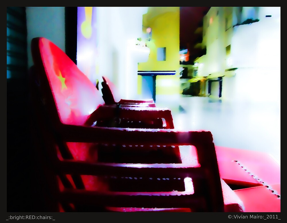 _:bright:RED:chairs:_ by Vivian V  Mairo