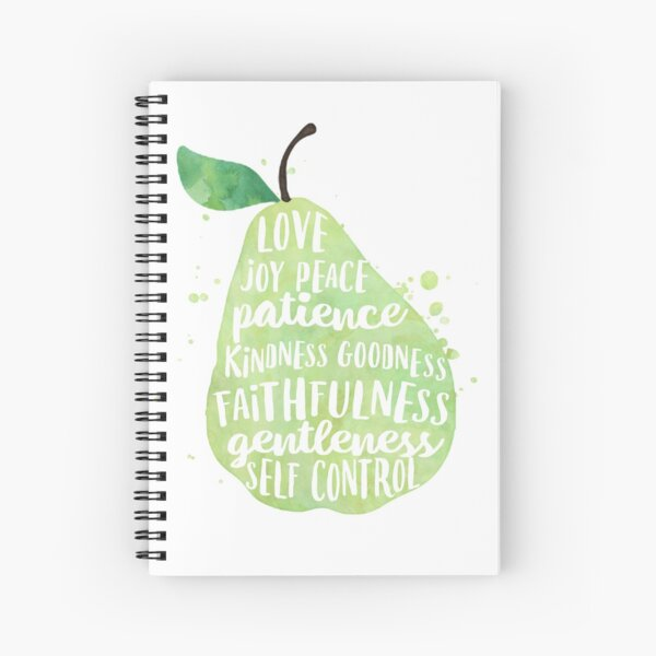 Fruit of the spirit watercolor pear Spiral Notebook