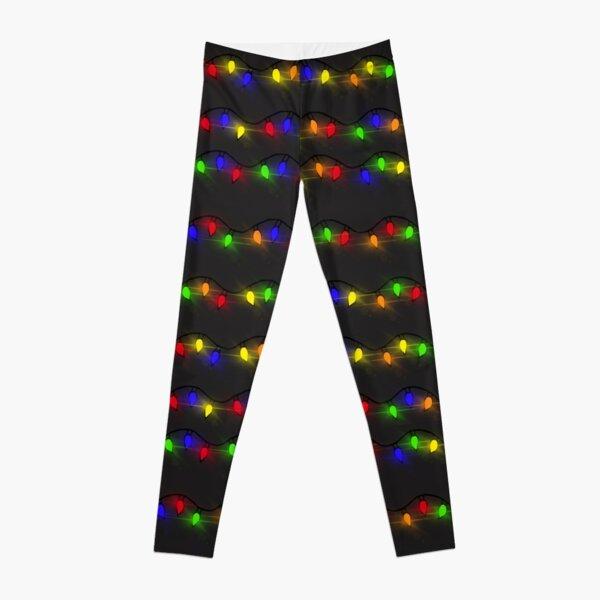 Twinkling Christmas Lights Leggings