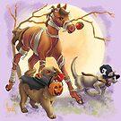 Happy Halloween Animals by Unicornarama