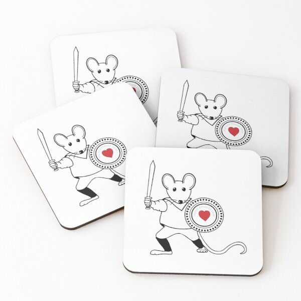 MantraMouse® Warrior  Coasters (Set of 4)