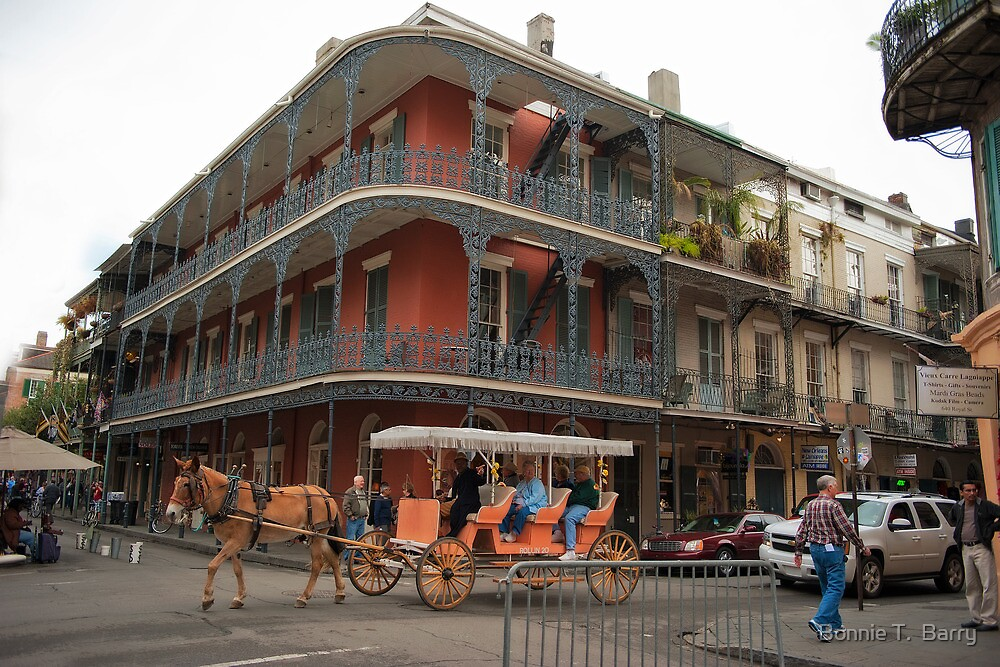 A typical day in New Orleans French Quarter by Bonnie T.  Barry