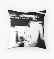 N Train Throw Pillow
