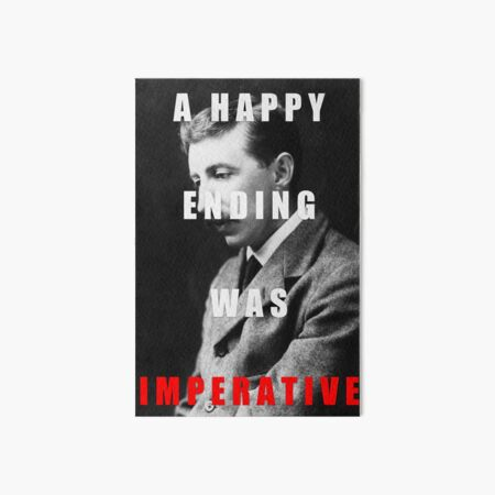 E.M. Forster Maurice Quote Art Board Print