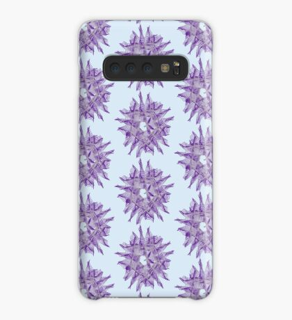 Abstract Violet Spiral Lines Case/Skin for Samsung Galaxy