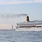 Cruise Ship near Southampton by Chris Cardwell