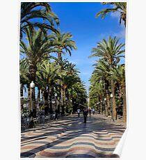 Alicante, Explanada de España Poster