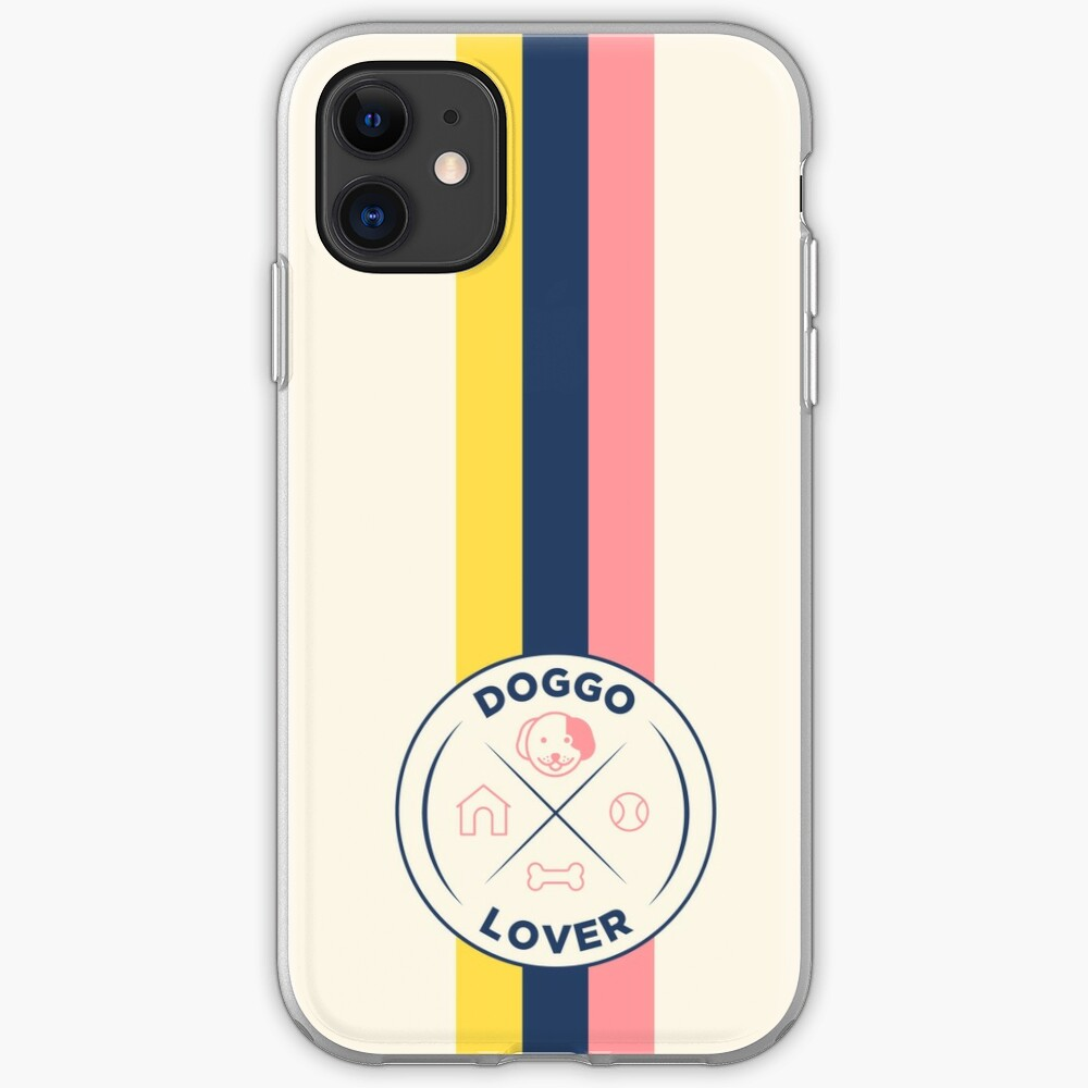 Funny Dog Lover Retro Badge iPhone Case & Cover