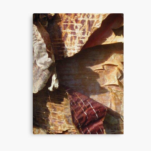 peeling bark Prayer Flags Canvas Print