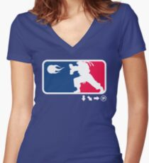 SFL Women's Fitted V-Neck T-Shirt