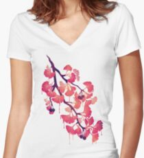 O Ginkgo Women's Fitted V-Neck T-Shirt