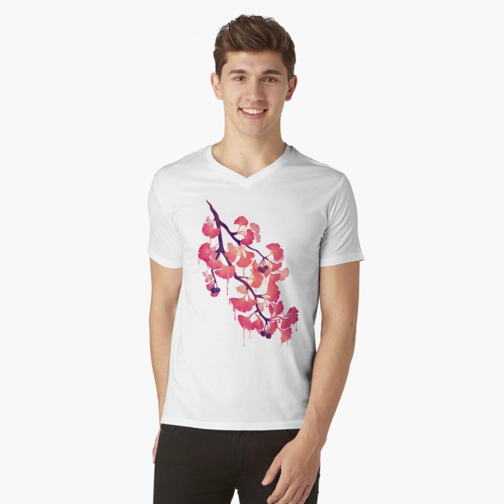 Oh ginkgo Camiseta de cuello en V