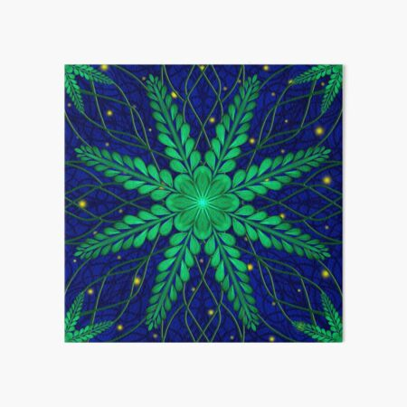 Web of Leaves and Light Art Board Print